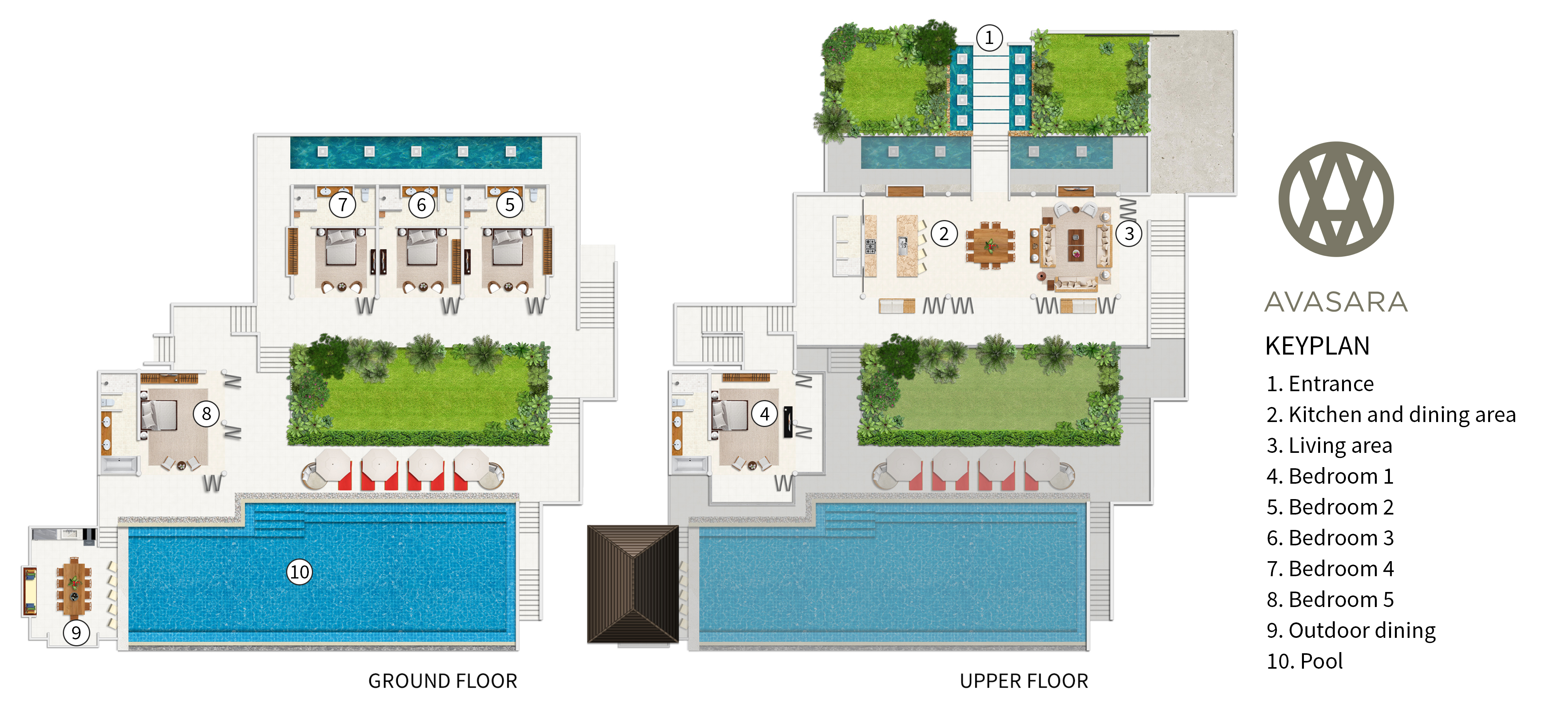 Panacea Retreat - Villa Avasara - Floorplan