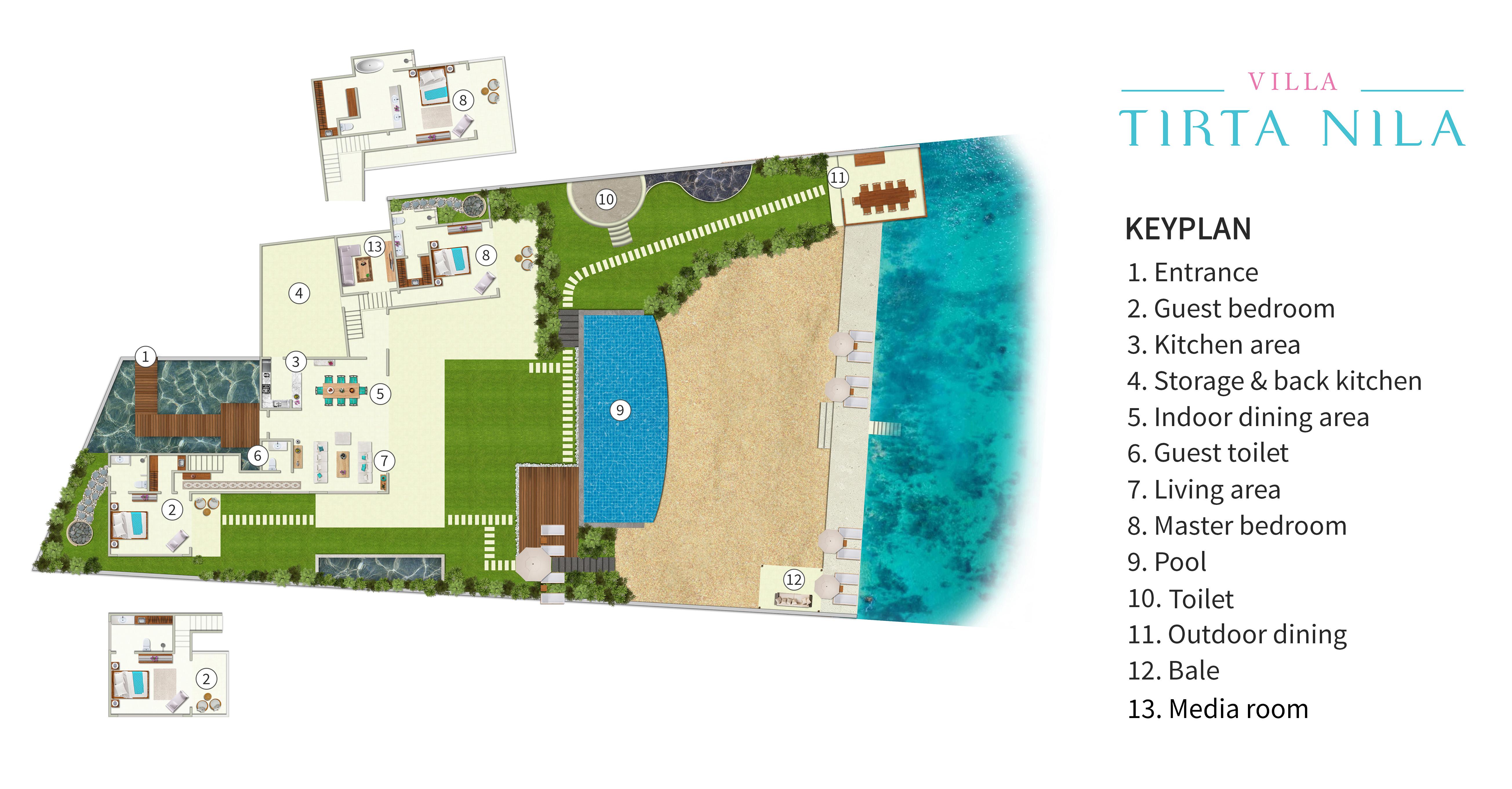 Villa Tirta Nila - Floorplan<br />
