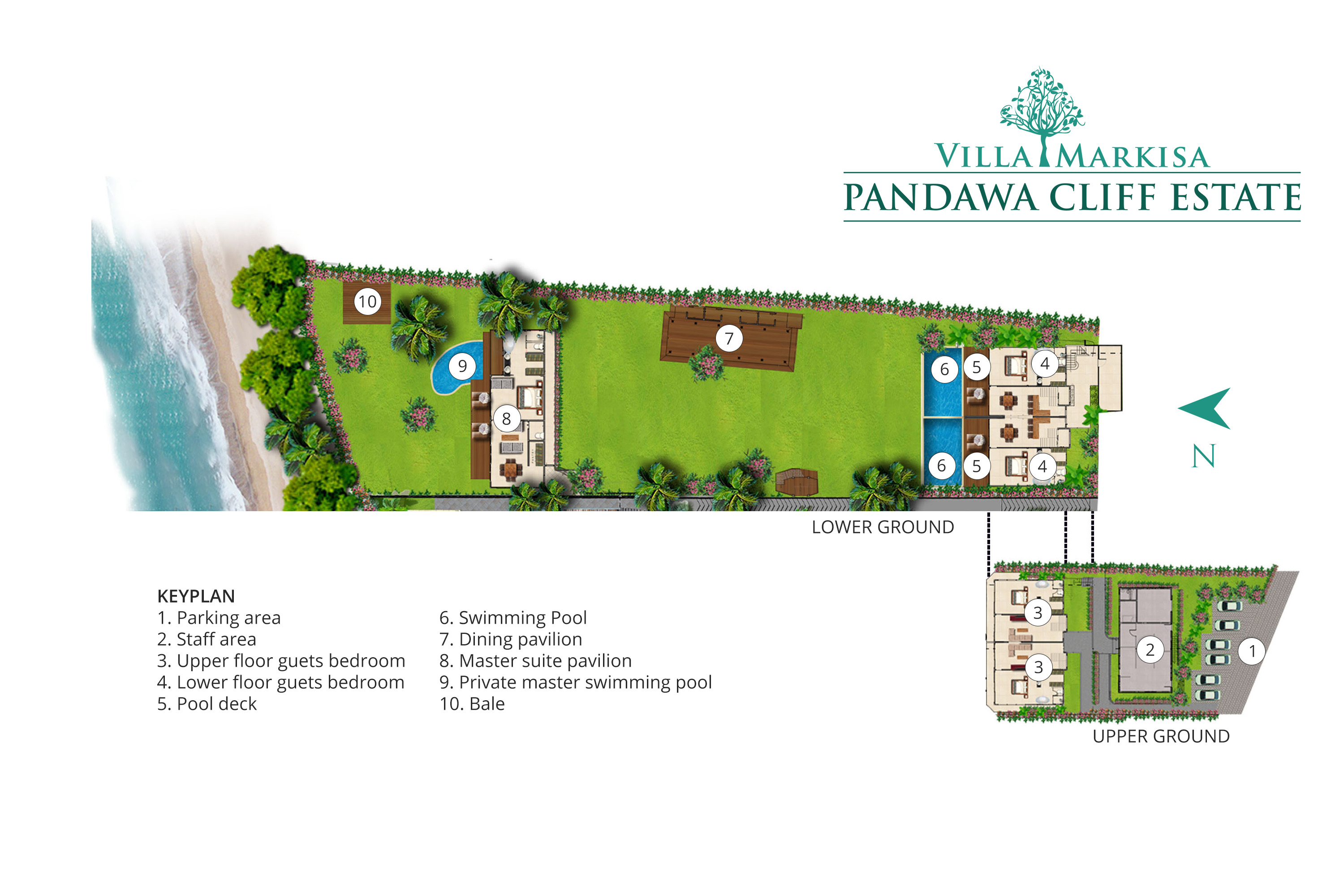Pandawa Cliff Estate - Villa Markisa - Floorplan