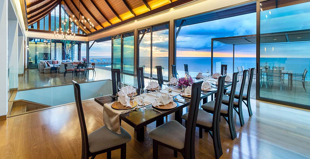 Villa Haleana - The perfect dining setting