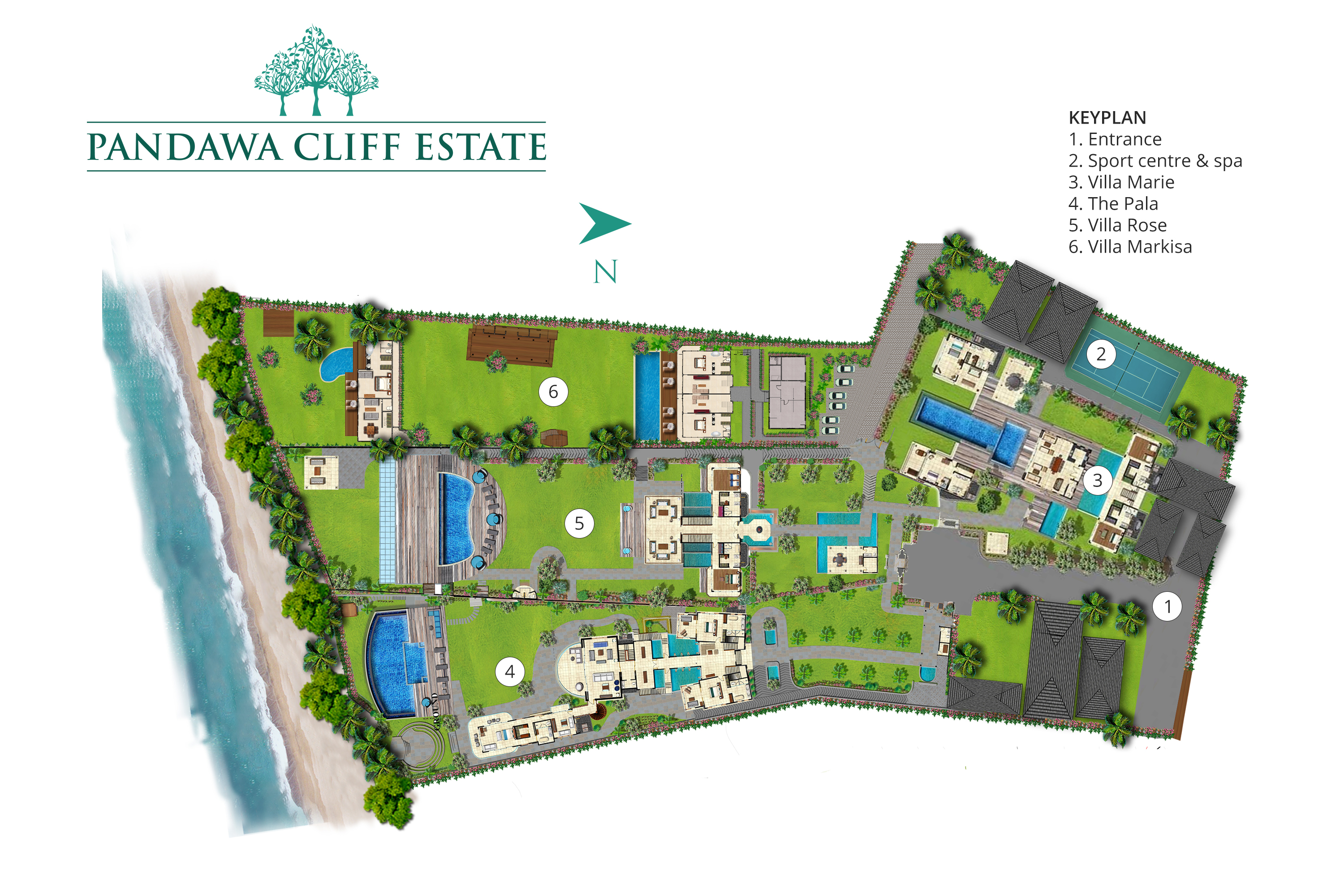 Pandawa Cliff Estate - Floorplan<br />