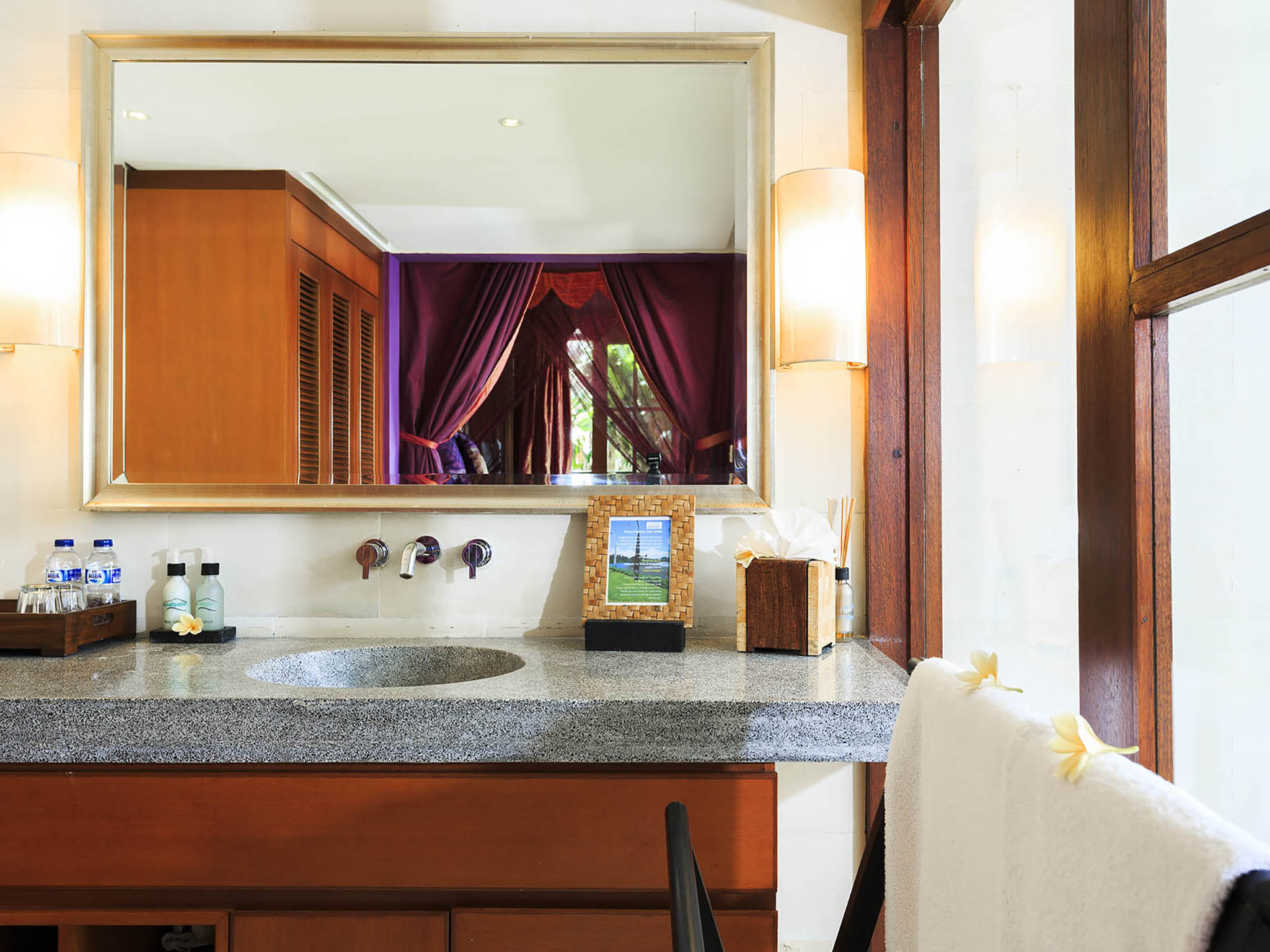 Villa Pushpapuri - Purple room ensuite features - Villa Pushpapuri, Sanur-Ketewel, Bali