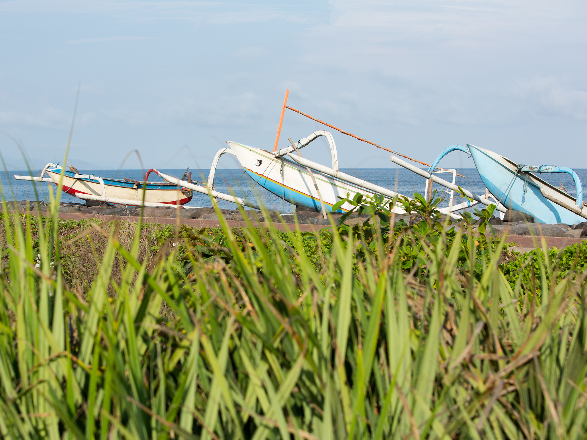 Sanur Residence - Local fishing boats beached in front of the villa - Sanur Residence, Sanur-Ketewel, Bali