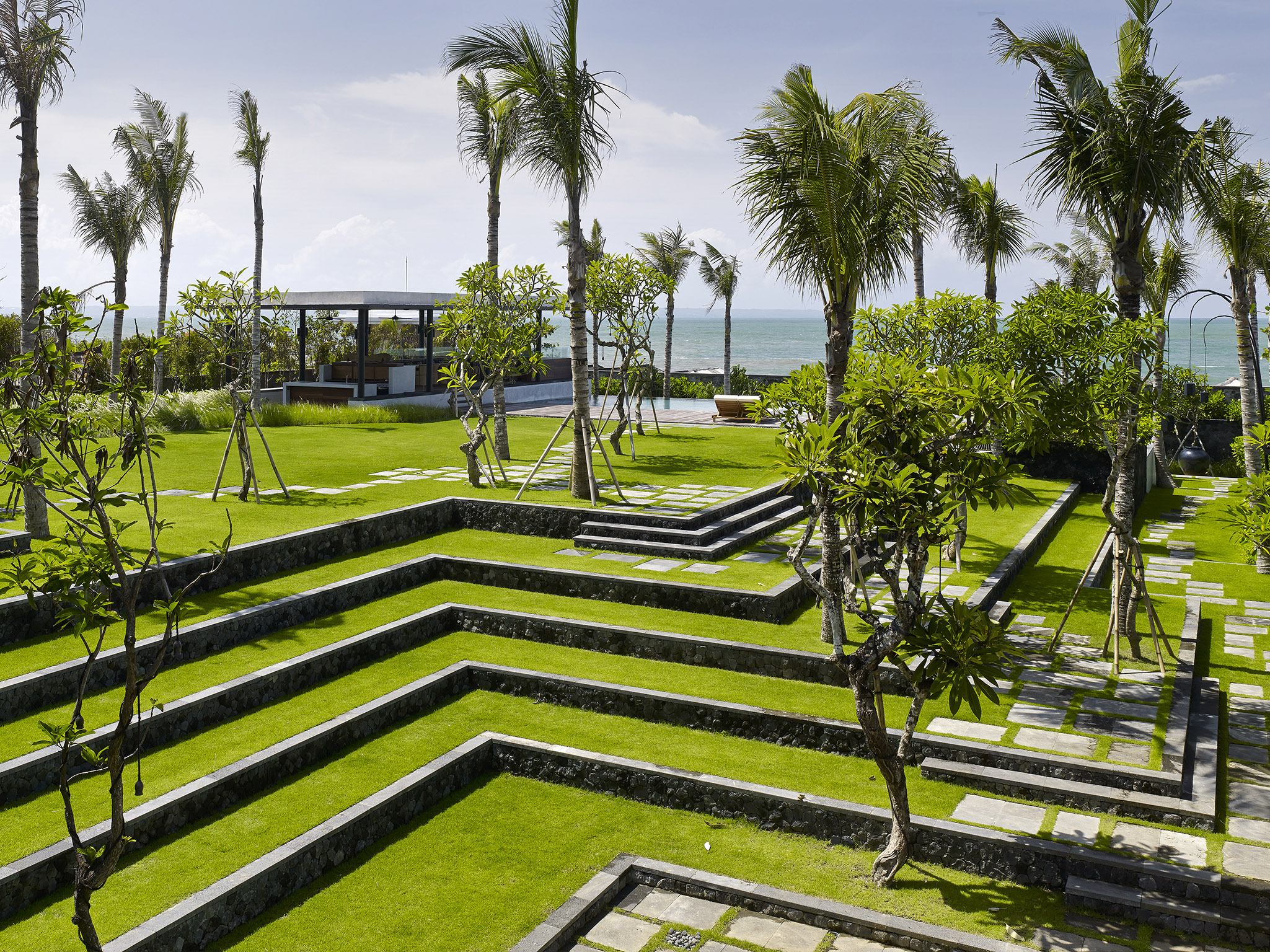 Arnalaya Beach House - Terraced garden - Arnalaya Beach House, Canggu, Bali