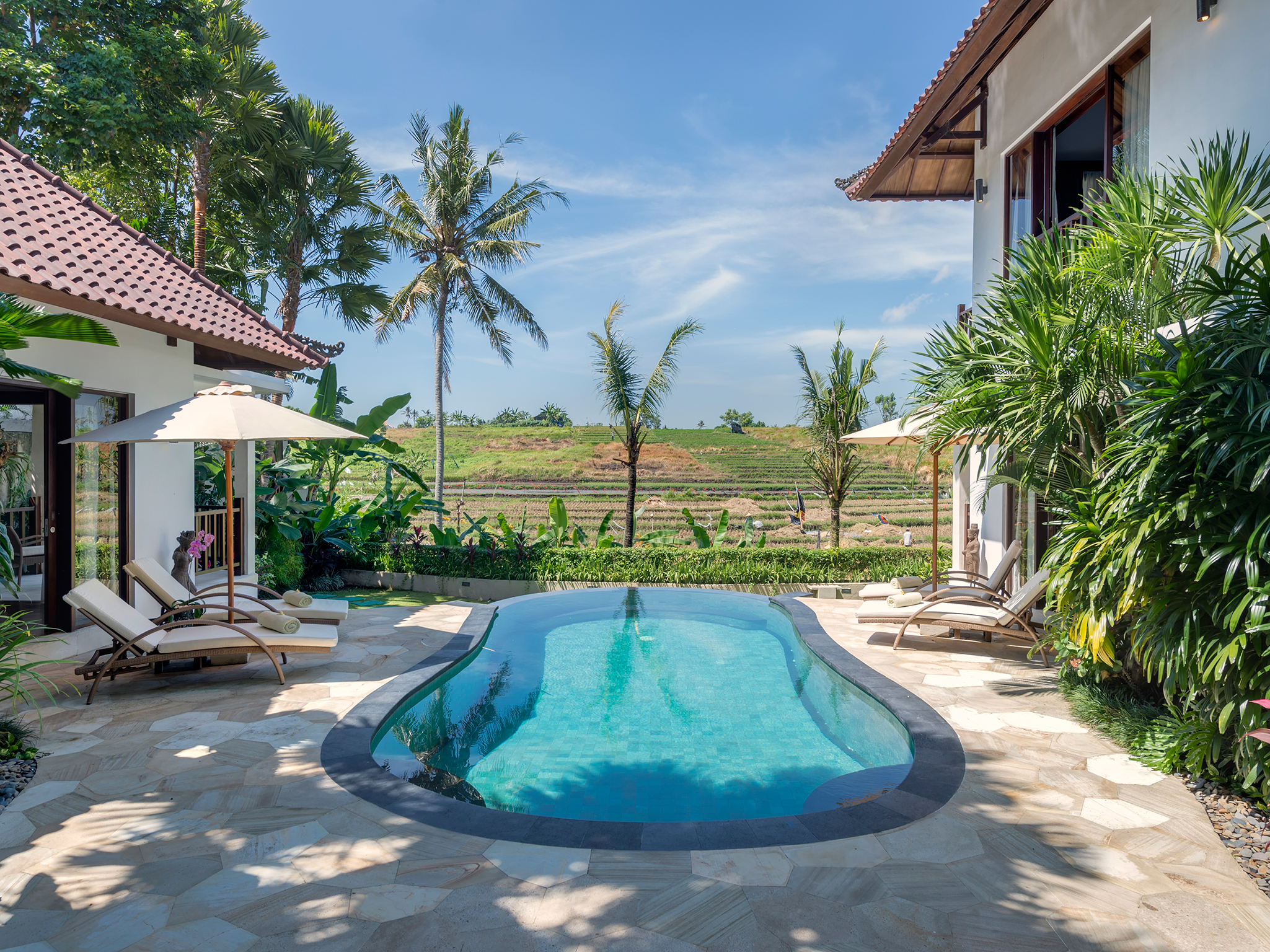 1. Villa Damai - Pool view - Canggu Terrace - Villa Damai, Canggu, Bali