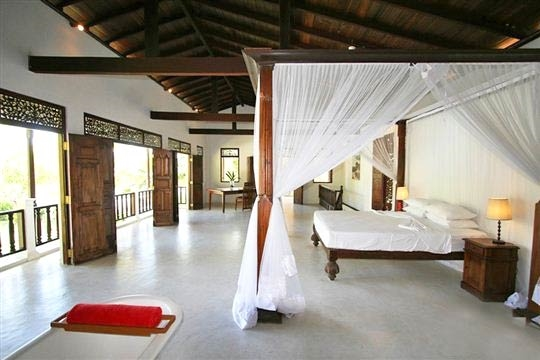 Master Bedroom and View - Mandalay Lake Villa, Habaraduwa-Koggala, South Coast